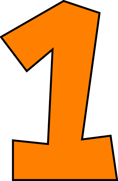 Number . One clipart