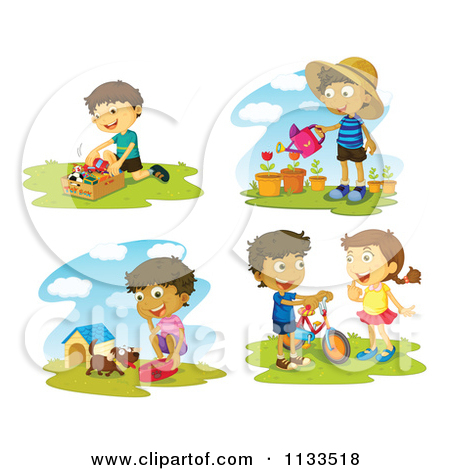 Special cartoon . Activities clipart child activity