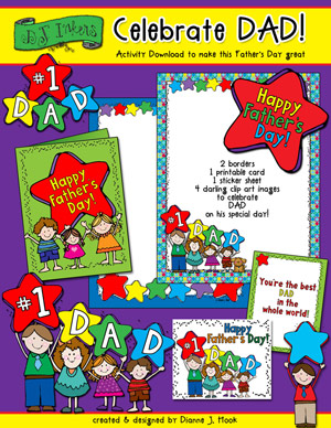 1 clipart activity. Printables for father s