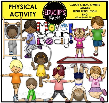 1 clipart activity. Physical kids clip art