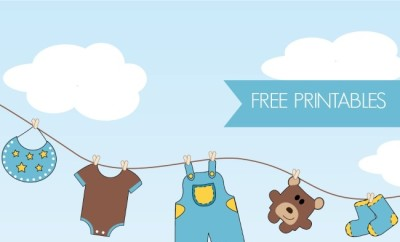 1 clipart baby boy.  free shower printables