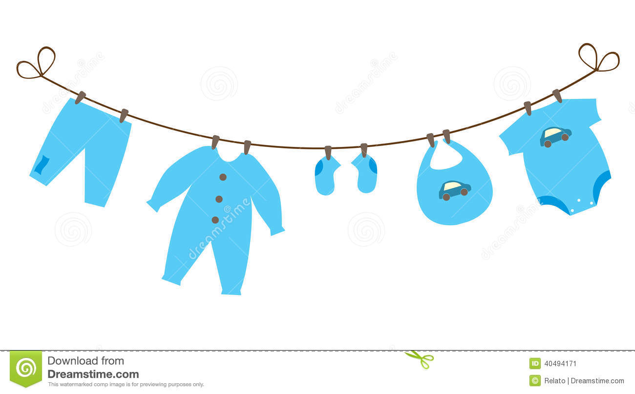 Clothesline . 1 clipart baby boy