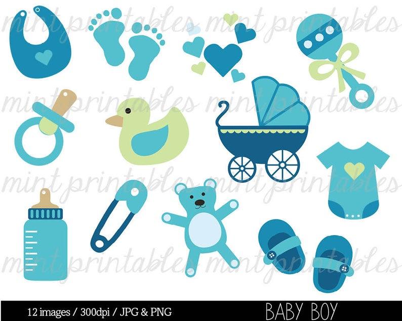 1 clipart baby boy. Shower clip art blue