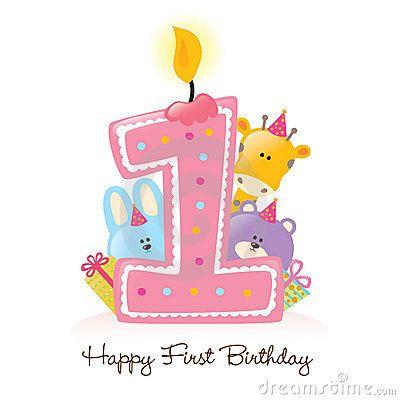 Happy st clip art. Birthday clipart 1st