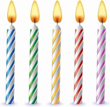 1 clipart birthday candle. Vector free download for