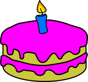 Cake one clip art. 1 clipart birthday candle
