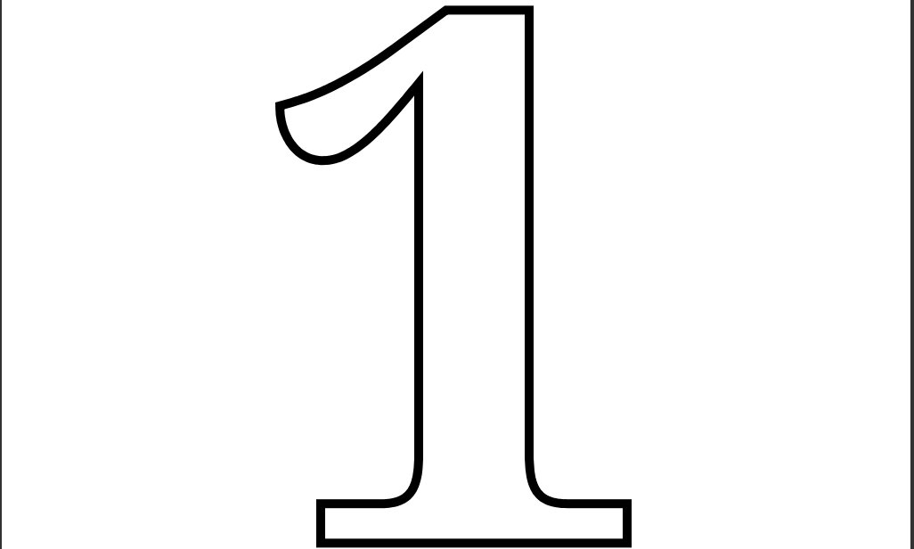 Number free download best. 1 clipart black and white