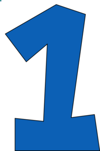 Number one hawk clip. 1 clipart blue