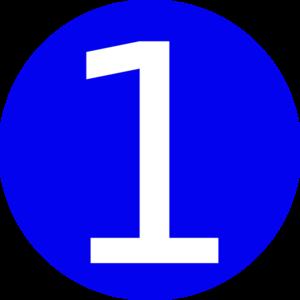 Blue . Number 1 clipart 1blue