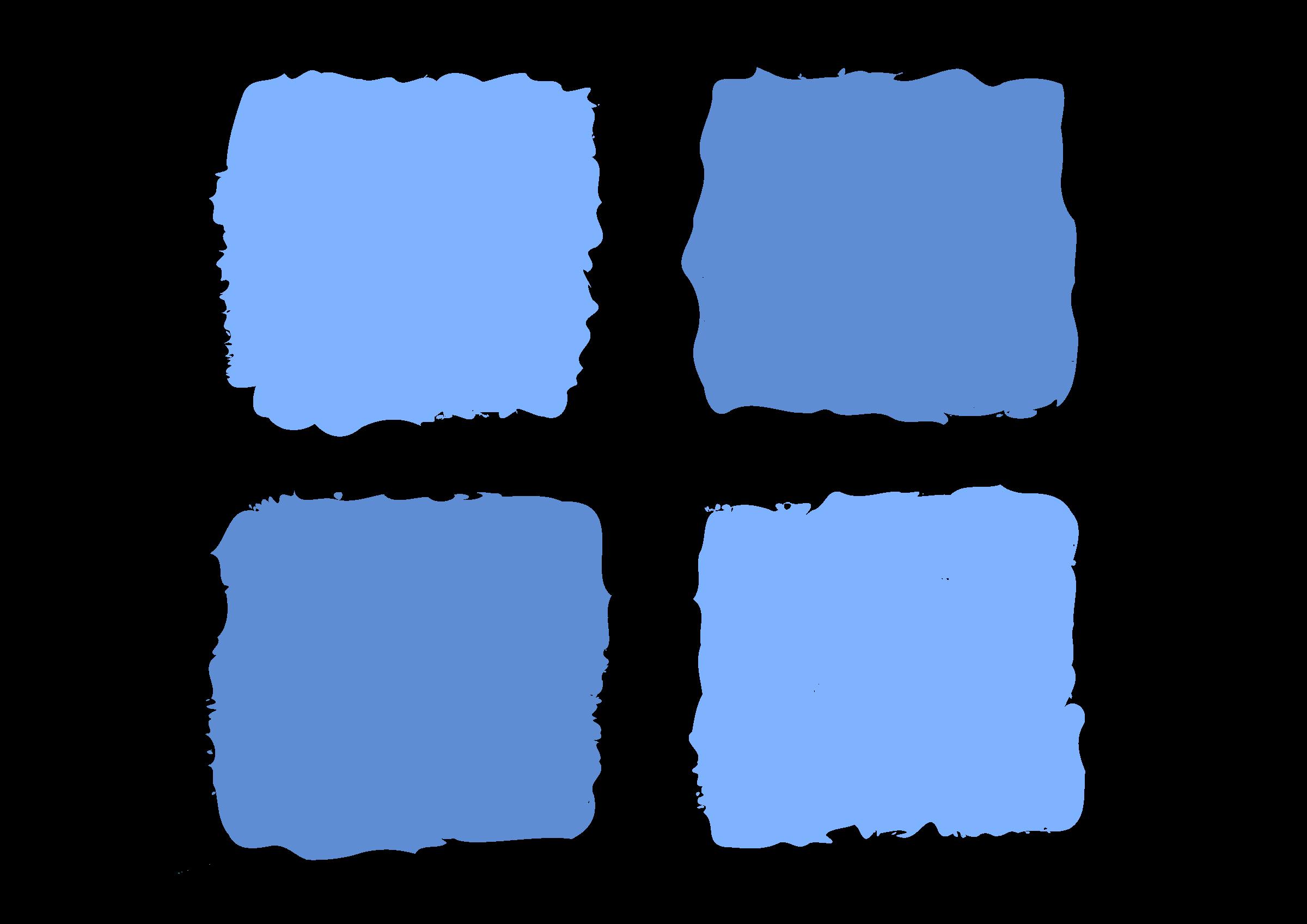 Number 1 clipart 1blue. Blue squares big image