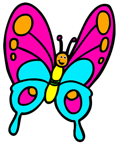 . 2 clipart butterfly