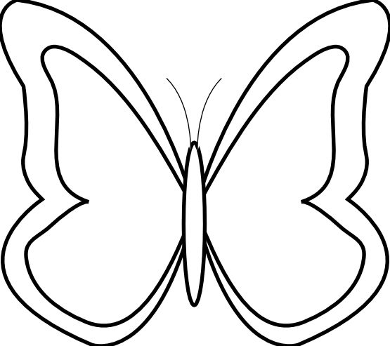 Black and white station. 1 clipart butterfly