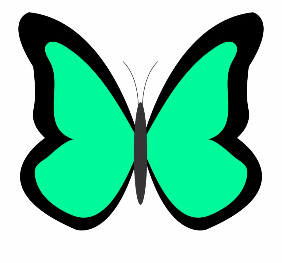 Spring clip art background. 1 clipart butterfly