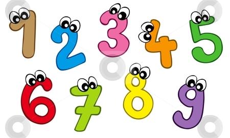 1 clipart cartoon. Numbers