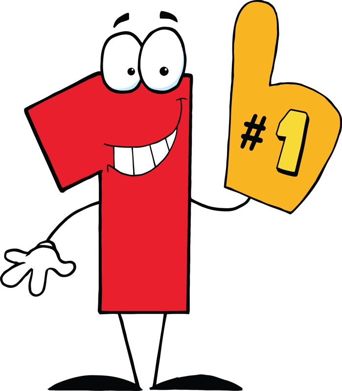 Free cliparts number download. 1 clipart cartoon
