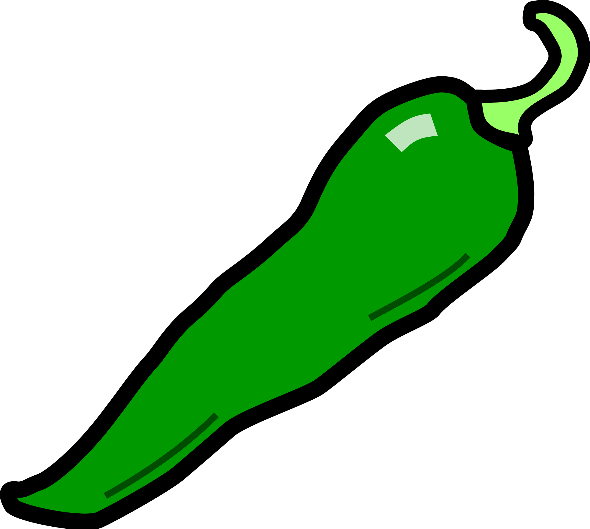 Green clipartix. 1 clipart chili
