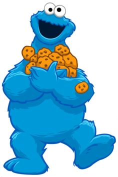 1 clipart cookie monster. Cut out template google