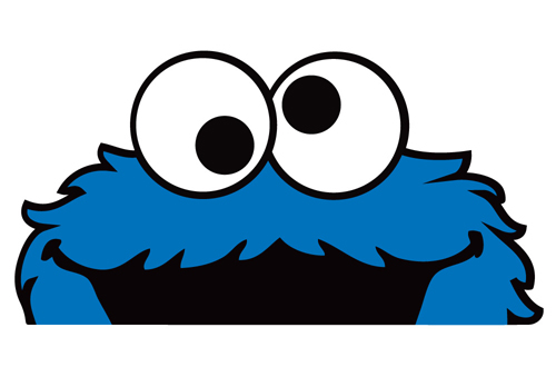 Peeper bomber sticker decal. 1 clipart cookie monster