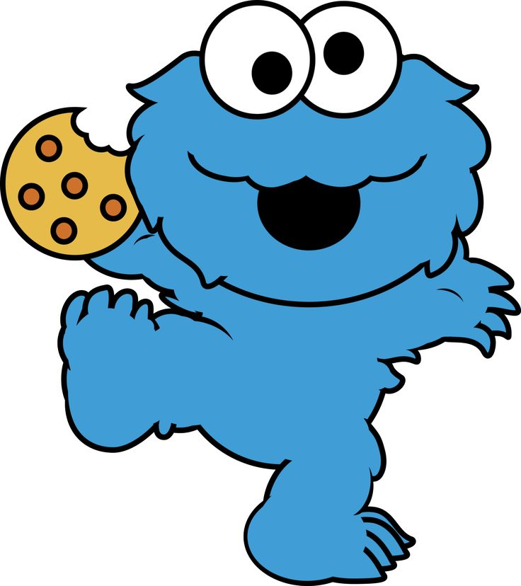 1 clipart cookie monster.  best monstruo come