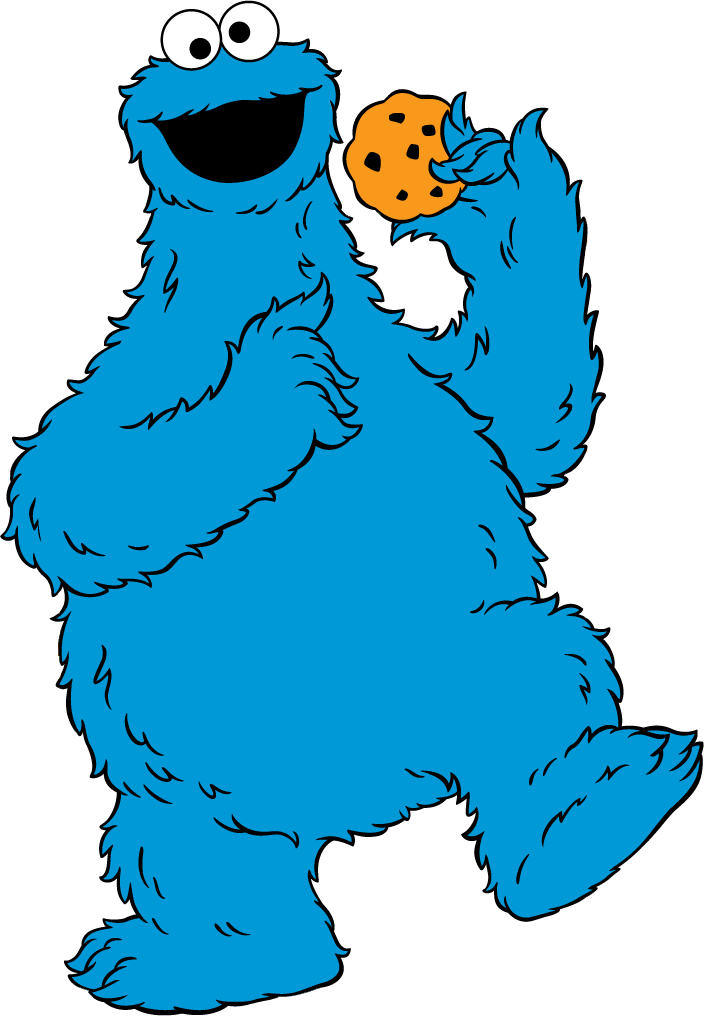 Clip art sesame street. Number 1 clipart cookie monster
