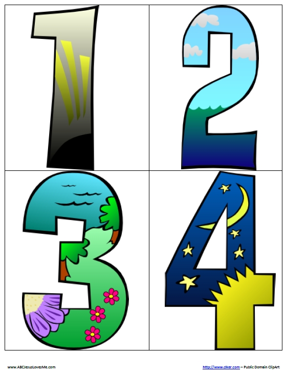 1 clipart day creation. Abc jesus loves me