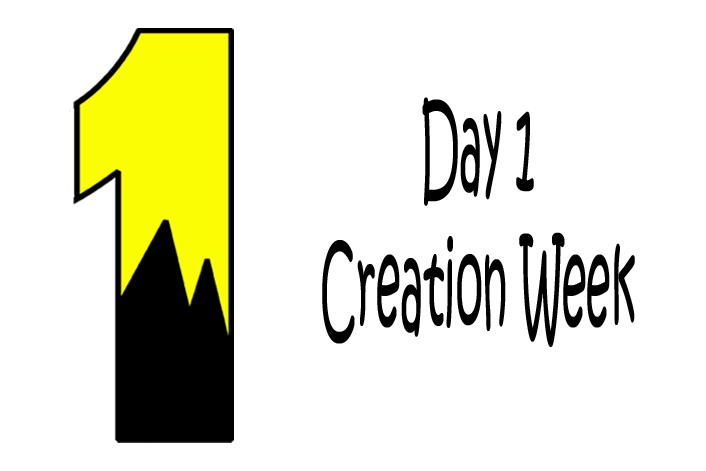 Scripture reference genesis story. Creation clipart week