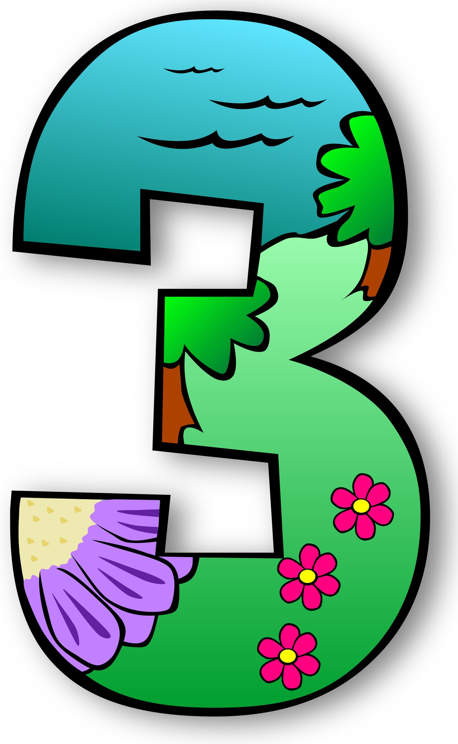 Creation days numbers big. Number clipart clip art