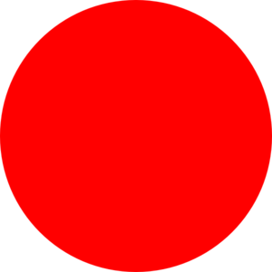 1 clipart dot. Red