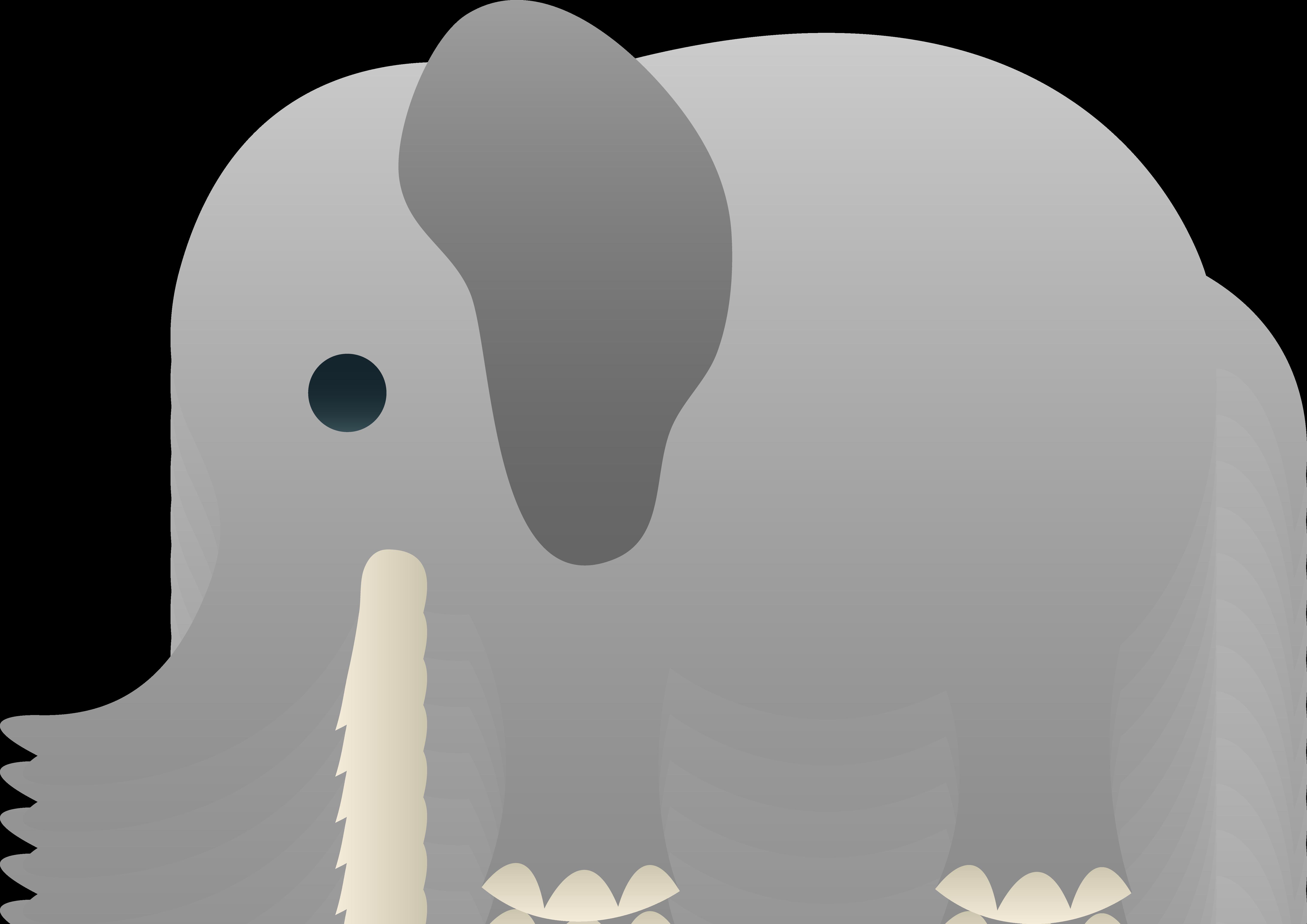 1 clipart elephant. Grey