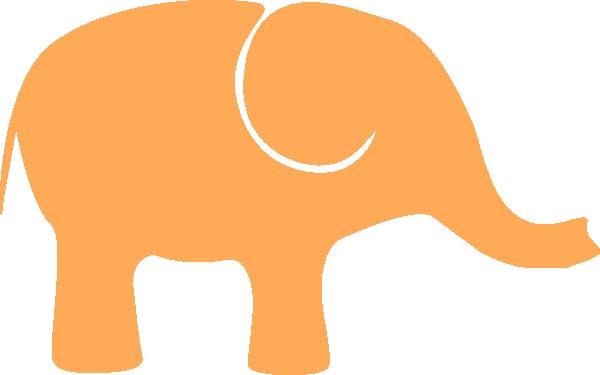 One orange clip art. 1 clipart elephant