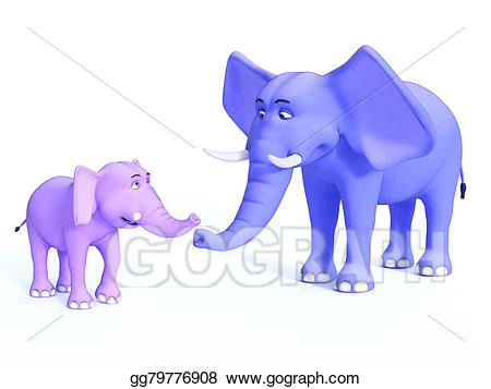 1 clipart elephant. Drawing cute toon family