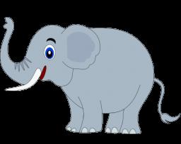 Happy . 1 clipart elephant