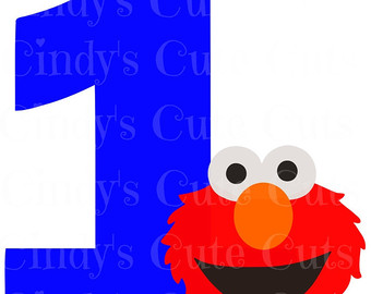 1 clipart elmo. Butterfly birthday st one