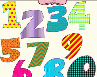 1 clipart fancy. Numbers
