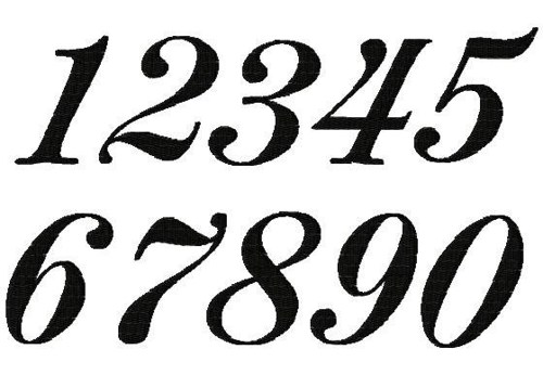 numbers. 1 clipart fancy