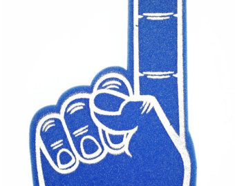 1 clipart foam finger. Etsy no