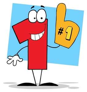 Free number one image. 1 clipart foam finger