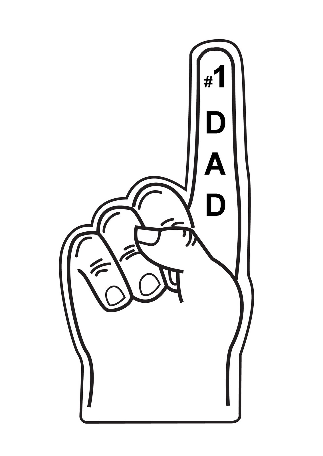 1 clipart foam finger. Best photos of number