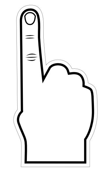 Clip art let s. 1 clipart foam finger
