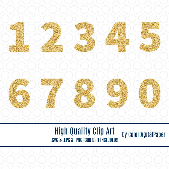1 clipart gold glitter. Svg number clip art