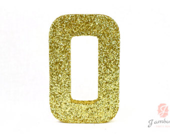 Paper mache number etsy. 1 clipart gold glitter