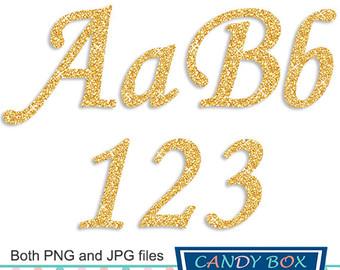 Numbers symbols clip art. 1 clipart gold glitter