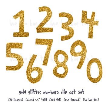 1 gold glitter