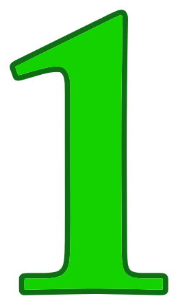 1 clipart green. Number signs symbol alphabets