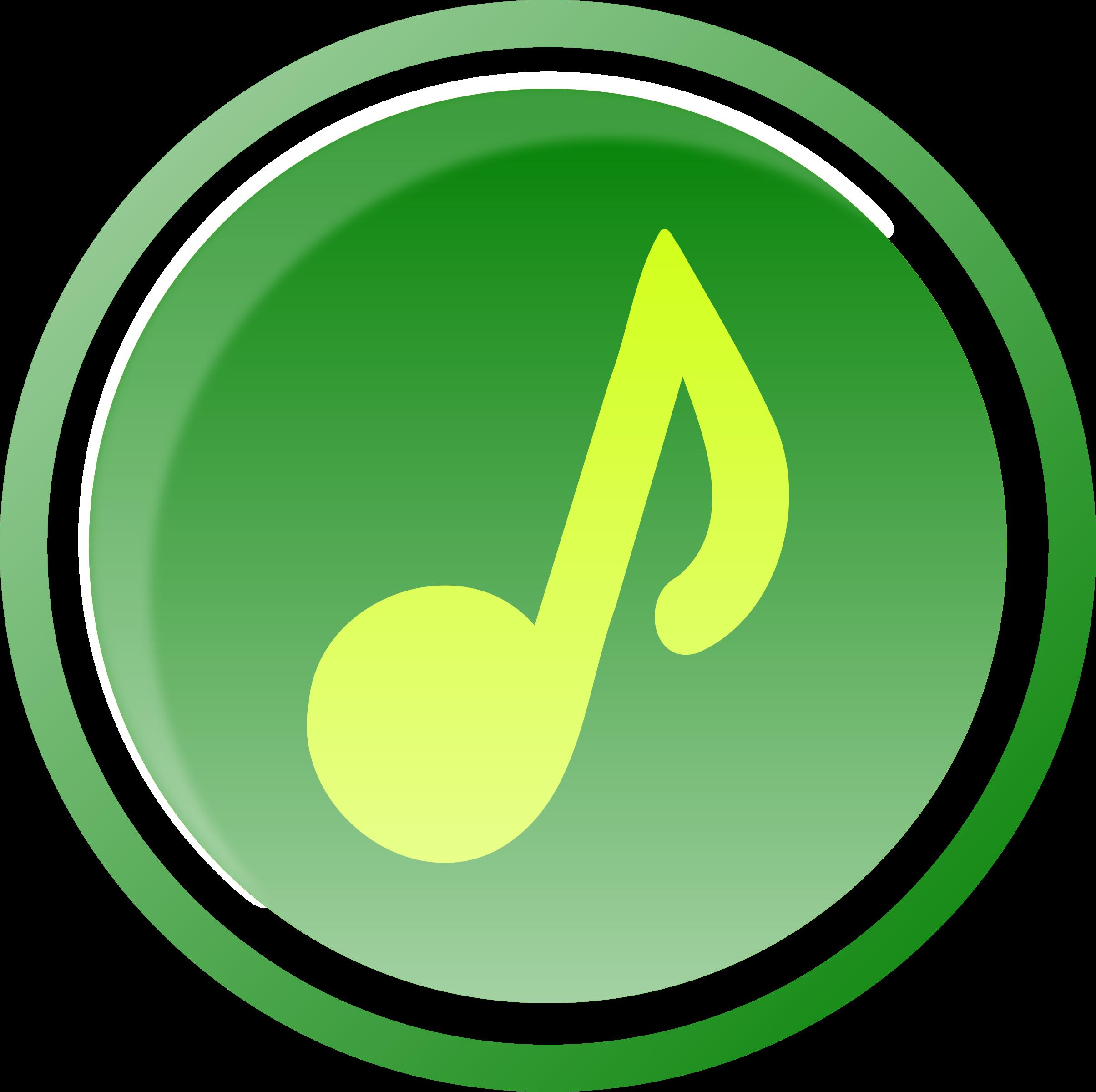 Music icon big image. 1 clipart green