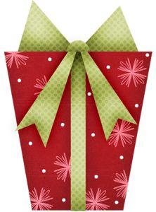 Christmas gift clip art. 1 clipart green