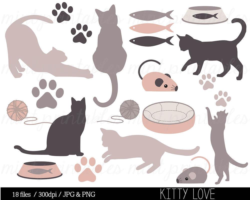 Cat clip art animal. 1 clipart kitten