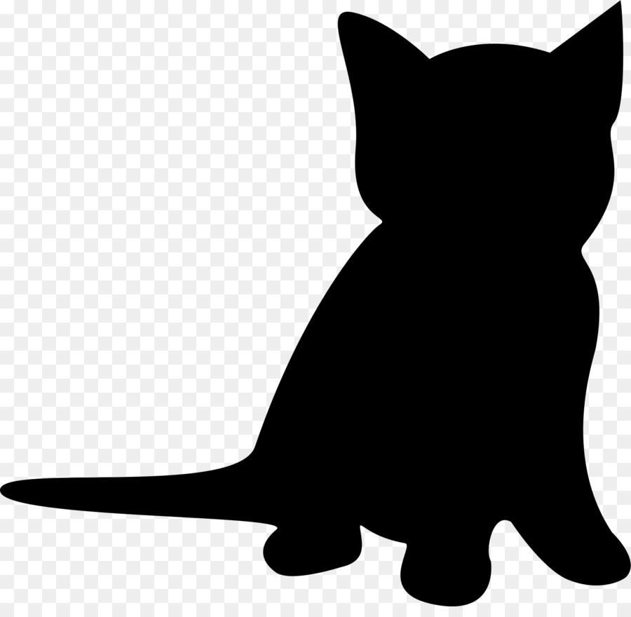 1 clipart kitten. Cat silhouette clip art