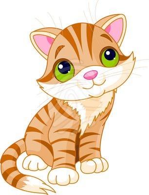 Cute kitten . Kitty clipart