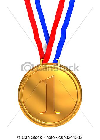 st place. 1 clipart medal